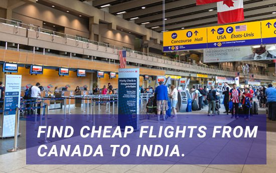 Flights from Canada to India